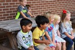 Southland Academy K3 students excitedly react to the STEAM experiment.