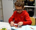 Southland Academy first grader, William Walker, enjoys the LEGO Lab Workshop!