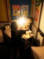 K3 is thankful for the light bulb!