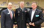 Pictured are Ty Kinslow, Southland Academy Headmaster, Steve Fuller, Lieutenant Colonel, Judge Advocate (U. S.  Army Reserve), and Brigadier General (Ret.), John A. Heath