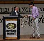 Pictured are Headmaster Ty Kinslow and Tyler Joyner.