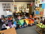 Dr. Jessica Brown talks to K3 students about proper dental care.