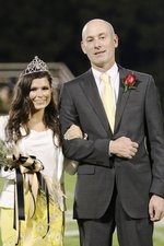 2019 Homecoming Queen Emma Griffin is shown with her father, Jayson Griffin.