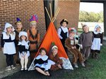 Southland Academy K5 students in Mrs. Brock's class celebrate Thanksgiving.
