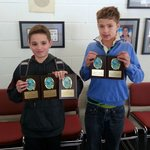 Biran and McCleery with their awards