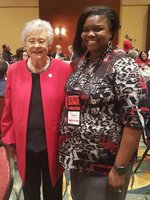 Mrs. Lotoya West and Governor Kay Ivey