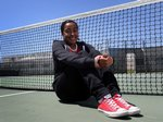 Pioneer Valley tennis player Caitlyn Brown led the Panthers' tennis team all four years of high school. She says she will be attending California State University, Bakersfield in the fall. (Photo courtesy of Daniel Dreifuss, SM Times Photographer)