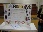 Yearbook Display at the Club Fair