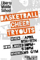 Tryouts for the 2018-2019 Basketball Cheer Team