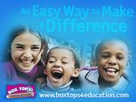 Box Tops for Education - A collection box is in the office