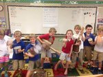 Mrs. Gray`s class with their instruments