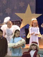 Students in Christmas Program