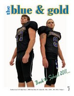"""""""(The) Blue & Gold"""" (Student Newspaper) Main Page Image"""