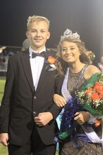 Homecoming queen Ally Collins, escorted by Jeb Hurst