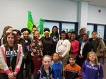 Lydia Kinard and NMS students