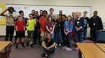 8th grade students with Ms. Singletary