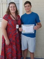 October 2018 Rotary Student of the Month with Teacher