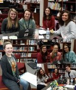 Student Council Members working Blood Drive