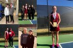 Student Athletes at Girls Tennis Singles State Championship Match
