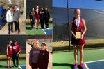 Student Athletes at Girls Tennis Singles State Championship Match