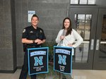 Ms. Cotney and Officer Wilbanks, Teacher and Support Staff Member of the Month