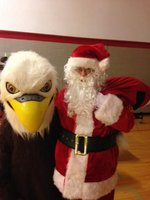 Eagle gets visit from Santa