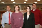 Bailey Terrell of Hernando High School scored a perfect 36 on his ACT.  He is joined by principal Duane Case.