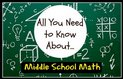 Middle School Math Info