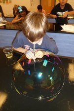 The above shows Evans Elementary `s Thaxton Land with his very large bubble in the