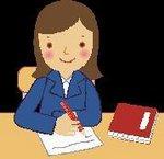 Girl sitting at desk