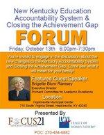 Education Forum Oct. 13