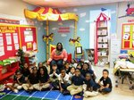 Ms. Gilbert with her class.