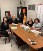 PAS Principal Sharon Lindsey and Clinch Counselor Kim Harville recently met with Youth Connections' representatives about job opportunities for PAS students.