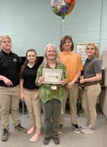 Ms. Mullins was selected as the Teacher of the Month by PAS staff.