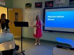 Ms. Mullins and Ms. Gray reviewed the Six Pillars with Pathways` teachers.