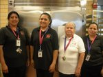 Our dedicated cafeteria staff (Ms. Virginia Sanchez, in the white shirt, is the Cafeteria Manager.)