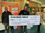 Campora Center's Eric Vanzant with SMS Administrators and a Big Check for $3050.00