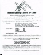 Franklin County Student Art Show Flyer