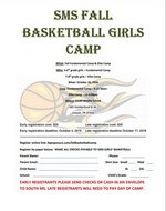 Basketball Camp for Girls at SMS Flyer