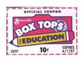 We love Box Tops!