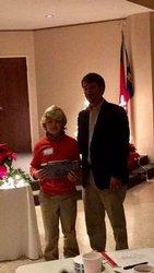 Fifth grader, Hatten Gore, won 1st prize.
