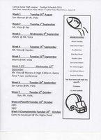 Football Schedule `15