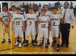 2017 OMS 7th Grade Basketball Team Undefeated Season 9-0