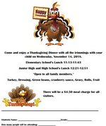 Thanksgiving Meal Flyer