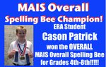 MAIS Overall Spelling Bee Champion