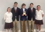 MS History Bowl Junior Varsity State Champions