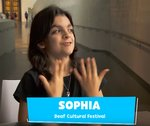 Sophia at Deaf Festival