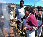 West Gadsden Middle School Student: Future Grill-masters!
