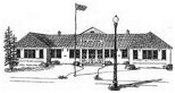 Artist rendering of first Elba High School