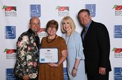 Jason Smith, Celebrity Chef, Melissa Livesay, Tennessee's School Nutrition Director of the Year, Lynn Harvey, School Nutrition Association President & Robert Dircks, Schwan's Food Service, Inc.